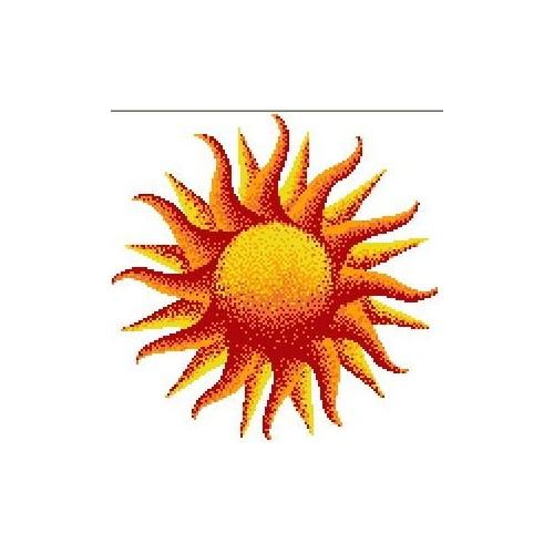 Стъклокерамично пано Слънце за басейн